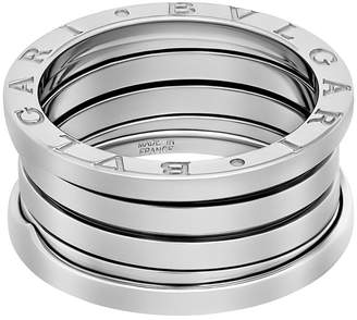 Bvlgari Estate 18K White Gold B.zero1 4-Band Ring, Size 6