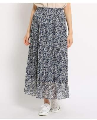Dessin (デッサン) - Ladies [WEB限定][洗える][ウエストゴム]フラワーペイズリープリーツスカート