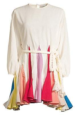 Rhode Resort Women's Ella Colorblock Fluted Hem Dress