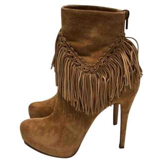 Christian Louboutin Camel Suede Ankle boots