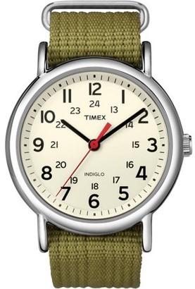 Timex Weekender Watch, Olive Nylon Slip-Thru Strap