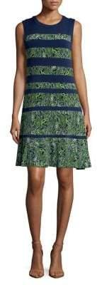 MICHAEL Michael Kors Striped Paisley Print Dress