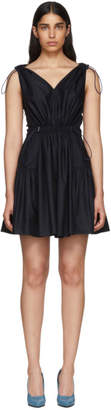 Stella McCartney Navy Drawstring V-Neck Dress