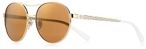 Tory Burch T-Print Rounded Aviator Sunglasses