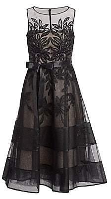 9fa9f87182 Teri Jon by Rickie Freeman Women s Lace Illusion Sleeveless Dress