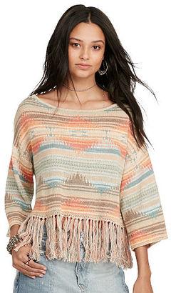 Ralph Lauren Denim & Supply Southwestern Fringe Sweater $98 thestylecure.com