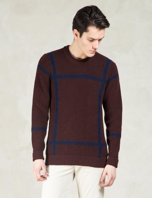 Commune De Paris Burgundy Pull Defense Sweatshirt