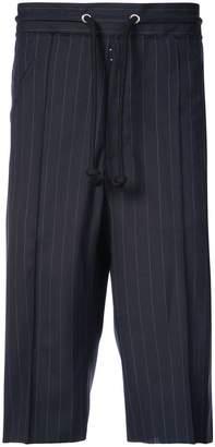 Maison Margiela drawstring striped shorts