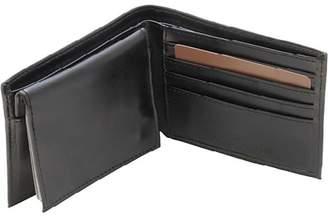 Joseph Abboud Men's Leather Passcase Wallet, Black