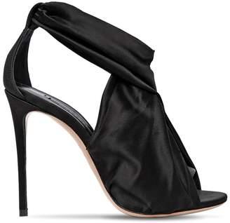 Casadei 100mm Stretch Silk Satin Sandals