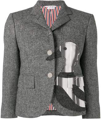 Thom Browne Frayed Duck Classic Sport Coat