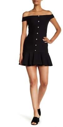Veronica Beard Winnie Off-the-Shoulder Flounce Dress