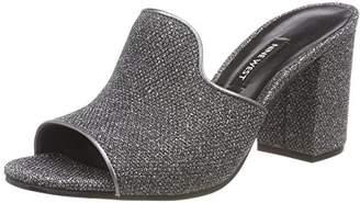 Nine West Women's GREVILEA2 Open Toe Sandals, (Black Silver Pewter CU)