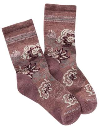 Smartwool Blooming Botanical Wool Blend Crew Socks