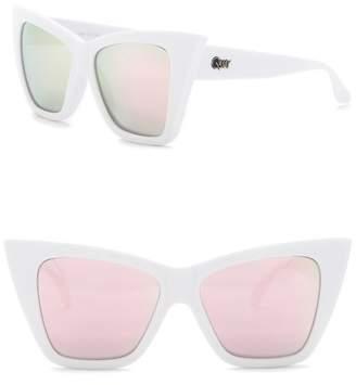 Quay Vesper 56mm Cat Eye Sunglasses