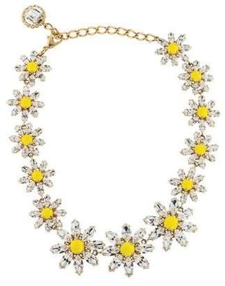 Dolce & Gabbana Crystal Daisy Collar Necklace