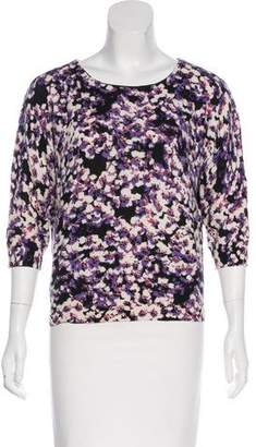 Magaschoni Floral Print Cashmere Sweater