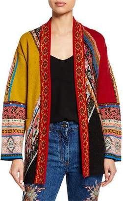 Etro Patchwork Self-Tie Cardigan