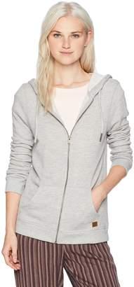 Roxy Women's Junior Trippin Zip Up Fleece Sweatshirt Sweater, -, L