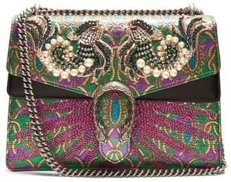 Gucci - Dionysus Embellished Brocade Shoulder Bag - Womens - Green Multi