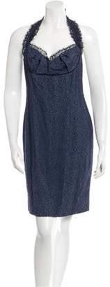 Zac Posen Silk Halter Dress