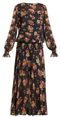 Preen Line Rylee Floral Print Dress - Womens - Black Print