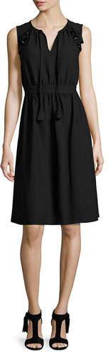 Kate Spade New York Sleeveless Crepe Tie-Front Dress