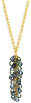 Gurhan Delicate Dew Fancy Sapphire, 18K Yellow Gold & 22K Yellow Gold Cluster Pendant Necklace