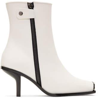 Stella McCartney White Metallic Toe Boots