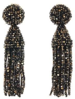 Oscar de la Renta Metallic Short Tassel Earrings