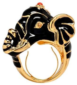 Kenneth Jay Lane Polished Gold Elephant Ring
