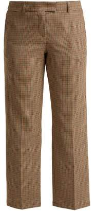 A.P.C. Cece Checked Trousers - Womens - Beige Multi