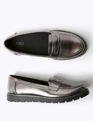Marks and Spencer Kids' Freshfeet Slip On Loafers (13 Small - 6 Large)