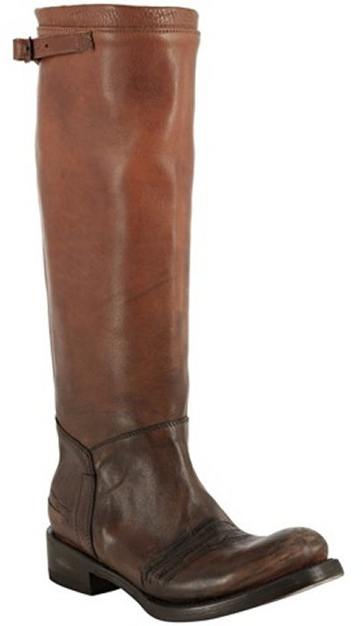 Ash honey distressed leather 'Scott' tall boots