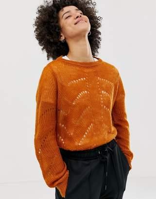 Pieces Jilly chevron knit sweater