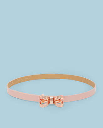 Ted Baker BOWDI Leather looped bow belt