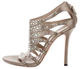Gucci Crystal-Embellished Satin Sandals