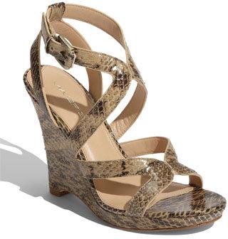Via Spiga 'Epic' Snake Embossed Leather Sandal