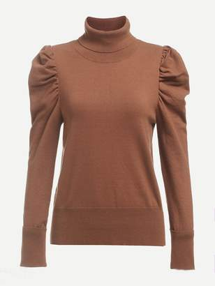 Shein Turtleneck Puff Sleeve Jumper