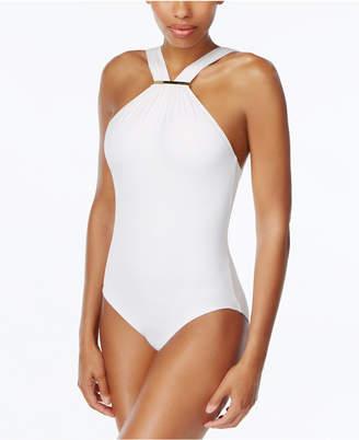 MICHAEL Michael Kors High-Neck One-Piece Swimsuit $108 thestylecure.com