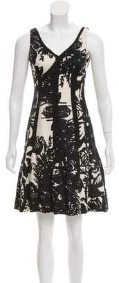 Tracy Reese Linen-Blend Patterned Dress