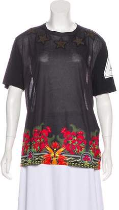 Givenchy Oversize Stars & Floral Jersey T-Shirt