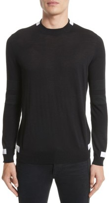Men's Givenchy Contrast Bands Wool Sweater $685 thestylecure.com