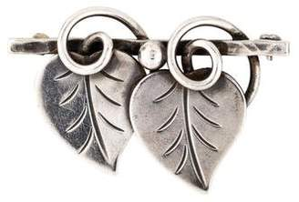 Georg Jensen Hand Wrought Leaves Brooch