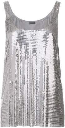 Paco Rabanne metallic asymmetric vest