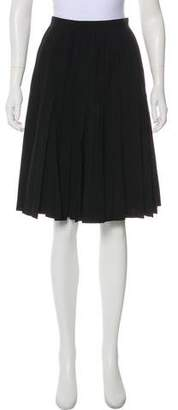Junya Watanabe Pleated Knee-Length Skirt