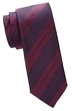 Canali Men's Two-Tone Diagonal Stripe Silk Tie