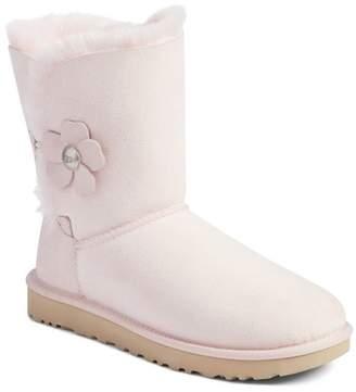 UGG Mini Bailey Poppy Suede Genuine Shearling Boot