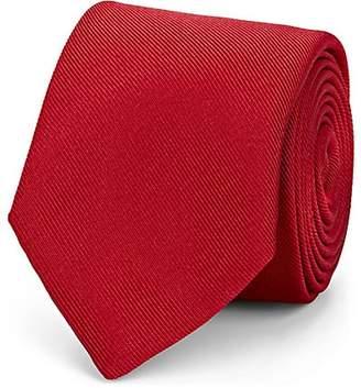 Barneys New York Men's Silk-Cotton Faille Necktie - Red