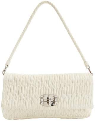 Miu Miu Cristal White Leather Clutch Bag
